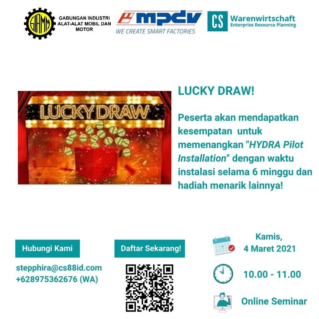 Smart Factory Webinar Series (Lucky Draw)