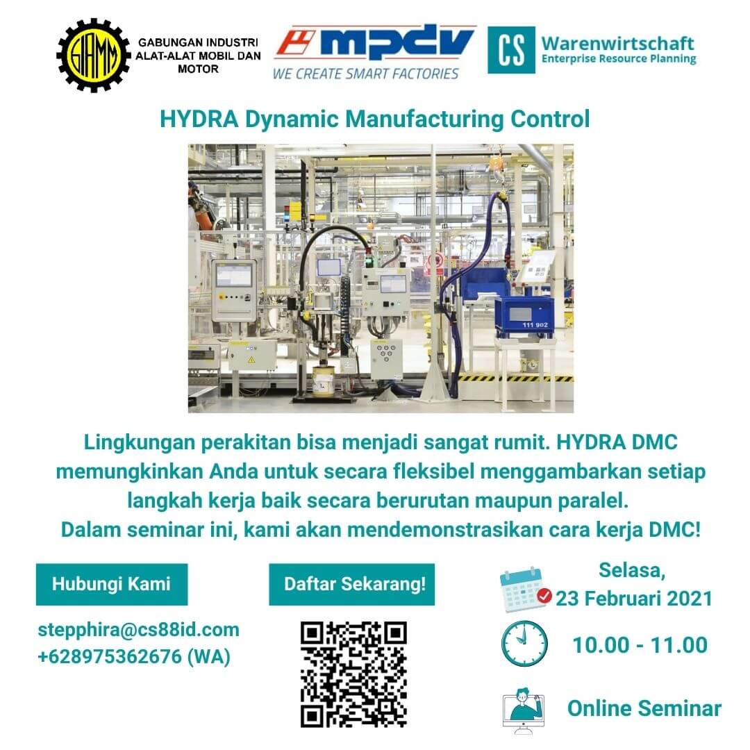 Smart Factory Webinar Series (Topic : HYDRA Dynamic Manufacturing Control)
